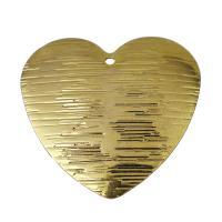 Messing Herz Anhänger, goldfarben plattiert, frei von Nickel, Blei & Kadmium, 29x28x1mm, Bohrung:ca. 1.5mm, 50PCs/Menge, verkauft von Menge