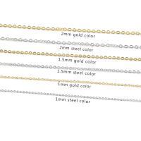 Halskette, Edelstahl, plattiert, unisex & verschiedene Größen vorhanden, keine, 60cm, 10PCs/Strang, verkauft per ca. 23.6 ZollInch Strang
