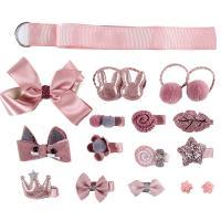 Stoff Haar Schmuck Set, Haarspange & Haarschmuck elastischen, für Kinder, keine, 30~480mm, verkauft von setzen
