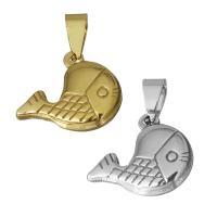 Edelstahl Tieranhänger, Goldfisch, plattiert, keine, 18.50x15.50x4mm, Bohrung:ca. 4x7mm, verkauft von PC