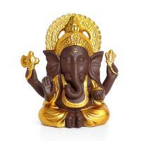 Porzellan Handarbeit Dekoration, Elephant, goldfarben, frei von Nickel, Blei & Kadmium, 90x113mm, verkauft von PC