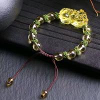 Gelbquarz Perlen Armband, Fabelhaft wildes Tier, poliert, verschiedene Größen vorhanden & für Frau, gelb, 28x18mm, verkauft von Strang