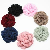 Stoff Haarspange Brosche Würdigung, Blume, plattiert, DIY, keine, 80mm, 50/Menge, verkauft von Menge