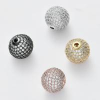 Strass Messing Perlen, DIY & mit Strass, keine, frei von Nickel, Blei & Kadmium, 14x14mm, Bohrung:ca. 2.2mm, ca. 4PCs/Menge, verkauft von Menge