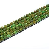 Malachit Perlen, rund, poliert, DIY & verschiedene Größen vorhanden, grün, verkauft per ca. 15 ZollInch Strang