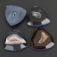 Natürliche Achat Druzy Anhänger, Eisquarz Achat, druzy Stil & gemischt, 46x44-47x10-12mm, Bohrung:ca. 2mm, 10PCs/Menge, verkauft von Menge