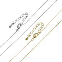 Messingkette Halskette, Messing, mit Verlängerungskettchen von 2Inch, plattiert, unisex & Kastenkette, keine, frei von Nickel, Blei & Kadmium, 0.50mm, Länge:ca. 17 ZollInch, 10SträngeStrang/Menge, verkauft von Menge