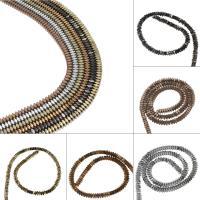 Nicht-magnetische Hämatit Perlen, Non- magnetische Hämatit, plattiert, DIY, keine, 2*5mm, Bohrung:ca. 1mm, 199PC/Strang, verkauft von Strang