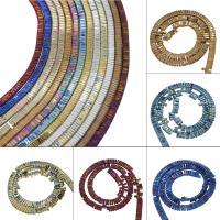 Nicht-magnetische Hämatit Perlen, Non- magnetische Hämatit, plattiert, DIY, keine, 7*3mm, Bohrung:ca. 1mm, ca. 199PCs/Strang, verkauft von Strang