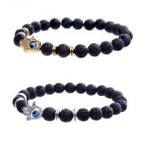 Lava Armband, mit Zinklegierung, Hamsa, plattiert, unisex & böser Blick- Muster, keine, verkauft per ca. 7.5 ZollInch Strang
