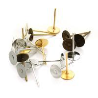 Eisen Ohrring-Bolzen -Komponente, plattiert, verschiedene Größen vorhanden, keine, 200PCs/Tasche, verkauft von Tasche