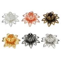 Messing Perlenkappe, Blume, plattiert, DIY, keine, frei von Nickel, Blei & Kadmium, 16mm, 20PCs/Tasche, verkauft von Tasche
