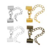 Eisen Key Schließe Einstellung, plattiert, DIY & verschiedene Größen vorhanden, keine, frei von Nickel, Blei & Kadmium, iron extender chain 5mmuff0clobster length12mm, 10SträngeStrang/Tasche, verkauft von Tasche