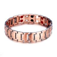 Kupfer Armband, unisex, Roségold, 15mm, Länge:8 ZollInch, verkauft von PC