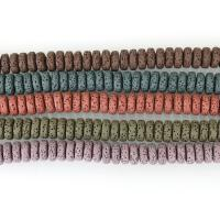 Natürliche Lava Perlen, keine, 8x4mm, Bohrung:ca. 2mm, ca. 61PCs/Strang, 5SträngeStrang/Menge, verkauft per ca. 8 ZollInch Strang