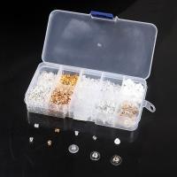 ABS Kunststoff Ohrstöpsel, mit Messing & Eisen, plattiert, DIY & verschiedene Stile für Wahl, verkauft von Box