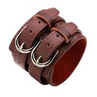 Leder Armband, mit Zinklegierung, plattiert, unisex, keine, 272x50mm, verkauft von Strang