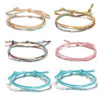 Zinklegierung Armband-Set, mit Nylonschnur, plattiert, für Frau, farbenfroh, frei von Nickel, Blei & Kadmium, verkauft von setzen