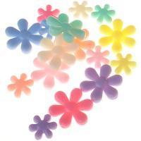 Acryl Zwischenperlen, Blume, Spritzgießen, verschiedene Größen vorhanden, keine, Bohrung:ca. 1mm, verkauft von Tasche