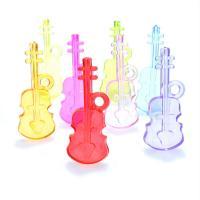 Acryl Anhänger, Gitarre, Spritzgießen, keine, 50x19x7mm, Bohrung:ca. 2mm, ca. 170PCs/Tasche, verkauft von Tasche
