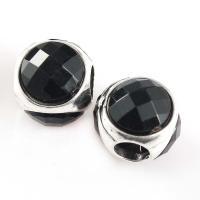 Zink Legierung Perlen Schmuck, Zinklegierung, mit Kristall, plattiert, facettierte, keine, frei von Nickel, Blei & Kadmium, 11mm, Bohrung:ca. 4mm, 2Taschen/Menge, 10PCs/Tasche, verkauft von Menge