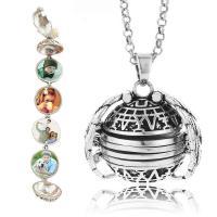 Zinklegierung Medaillon-Halskette, verschiedene Stile für Wahl & für Frau, verkauft per ca. 27.5 ZollInch Strang
