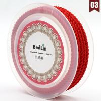 Nylon Nichtelastisches Garn, rund, DIY, keine, frei von Nickel, Blei & Kadmium, 4mm, 2m/PC, verkauft von PC