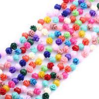 Harz Perle, Blume, verschiedene Größen vorhanden, gemischte Farben, 100Taschen/Tasche, verkauft von Tasche
