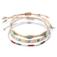 Nylonschnur Armband-Set, mit Seedbead, rund, für Frau, gemischte Farben, frei von Nickel, Blei & Kadmium, 280mm, 3PC/setzen, verkauft von setzen