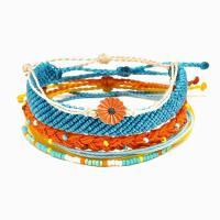 Gewachsten Baumwollkordel Armband-Set, Armband, Blume, für Frau, keine, frei von Nickel, Blei & Kadmium, verkauft von setzen