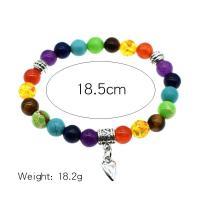 Naturstein Armband, für Frau, farbenfroh, verkauft per ca. 7.2 ZollInch Strang