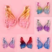 Haarstock-Befunde, Lampwork, Schmetterling, Einbrennlack, keine, 19x38mm, 50PCs/Tasche, verkauft von Tasche