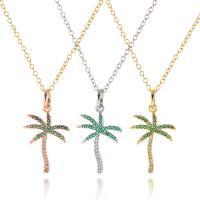 Messing Halskette, plattiert, für Frau & mit Strass, keine, 3*1.7cm, verkauft per 18.1 ZollInch Strang