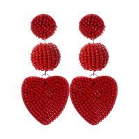 Seedbead Tropfen Ohrring, Bohemian-Stil & für Frau, keine, frei von Nickel, Blei & Kadmium, 75mm, verkauft von Paar