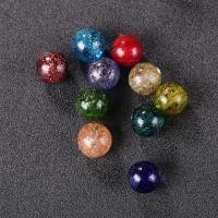 Goldsand Lampwork Perlen, rund, verschiedene Größen vorhanden, keine, Bohrung:ca. 1mm, 50PCs/Tasche, verkauft von Tasche