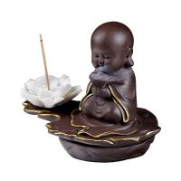 Porcelain Backflow Incense Burner, Lila Sand, handgemacht, verschiedene Stile für Wahl, 150x90x120mm, verkauft von PC