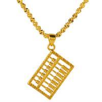 Messing Halskette, Abakus,Rechenbrett, plattiert, für Frau, goldfarben, frei von Nickel, Blei & Kadmium, 500x22x15mm, verkauft von Strang
