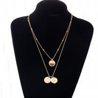 Mode-Multi-Layer-Halskette, Zinklegierung, plattiert, mehrschichtig & für Frau, goldfarben, verkauft von Strang