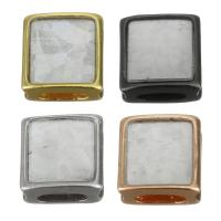 Messing-Armband-Ergebnisse, Messing, mit Seeohr Muschel, plattiert, keine, frei von Nickel, Blei & Kadmium, 8x8x4.50mm, Bohrung:ca. 5x2mm, 10PCs/Menge, verkauft von Menge