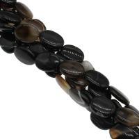 Natürliche Streifen Achat Perlen, plattiert, DIY, 15x20x5mm, Bohrung:ca. 1mm, 20PCs/Strang, verkauft von Strang