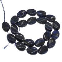 Lapislazuli Perlen, plattiert, blau, 13x18x6mm, Bohrung:ca. 1mm, 22PCs/Strang, verkauft von Strang