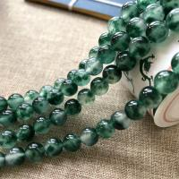 Natürliche Moos Achat Perlen, rund, verschiedene Größen vorhanden, Bohrung:ca. 1mm, verkauft von Strang