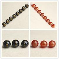 Achat Perlen, rund, verschiedene Größen vorhanden, Bohrung:ca. 1mm, 5PCs/Tasche, verkauft von Tasche