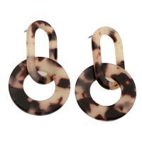Acryl Tropfen Ohrring, plattiert, für Frau, 27x46x2mm, verkauft von Paar