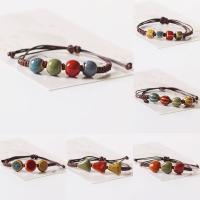 Porzellan Armband, mit Gewachste Nylonschnur, unisex & einstellbar & verschiedene Stile für Wahl, verkauft per ca. 6.5-7.5 ZollInch Strang