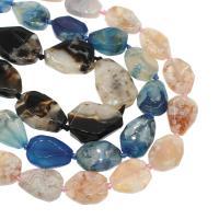 Achat Perlen, DIY, keine, 20x28x9mm/26x36x8mmm, Bohrung:ca. 2mm, ca. 11PCs/Strang, verkauft von Strang