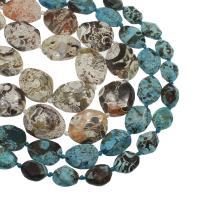 Achat Perlen, keine, 27x34x7mm/20x25x7mm, Bohrung:ca. 2mm, ca. 15PCs/Strang, verkauft von Strang