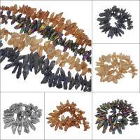 Natürliche Eis Quarz Achat Perlen, Eisquarz Achat, plattiert, keine, 66x17x14mm/26x9x9mm, Bohrung:ca. 1mm, ca. 60PCs/Strang, verkauft von Strang
