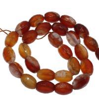 Natürlich rote Achat Perlen, Roter Achat, DIY, 10x14mm/12x16mm, Bohrung:ca. 2mm, ca. 20PCs/Strang, verkauft von Strang
