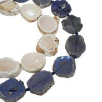 Natürliche Eis Quarz Achat Perlen, Eisquarz Achat, keine, 32x36x8mm/30x33x8mm, Bohrung:ca. 2mm, ca. 11PCs/Strang, verkauft von Strang